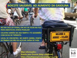 Cartaz_Bonde Bicicletas_Contra Aumento Gasolina_24-05-2018