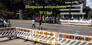 Video_W3 Sul_Bloqueios anti pedestre_print screen