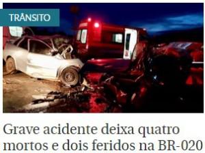 Correio Braziliense_16-01-2018_Acidente_BR-020_Mortes
