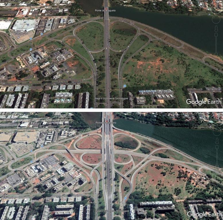 Uma imagem contendo edifício, estrada, ponte, trem  Descrição gerada automaticamente