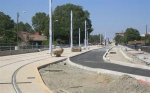 Obras do Tram em Toulousse;