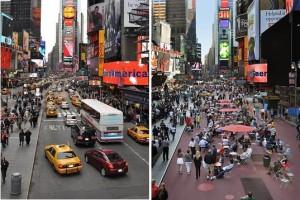 Times Square antes e depois