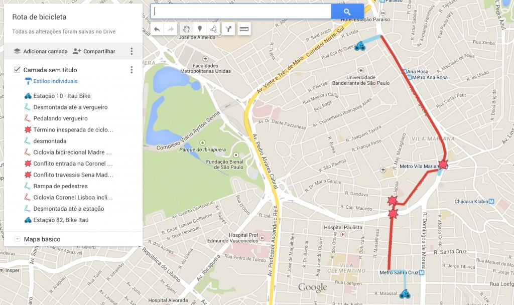 Mapa personalizado no Google Maps