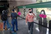 Máscaras nos rostos da Estação Sumaré, em S.Paulo