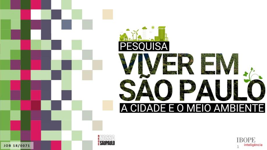 A cidade e o meio ambiente (SP)