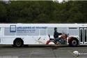 Anúncios criativos em ônibus
