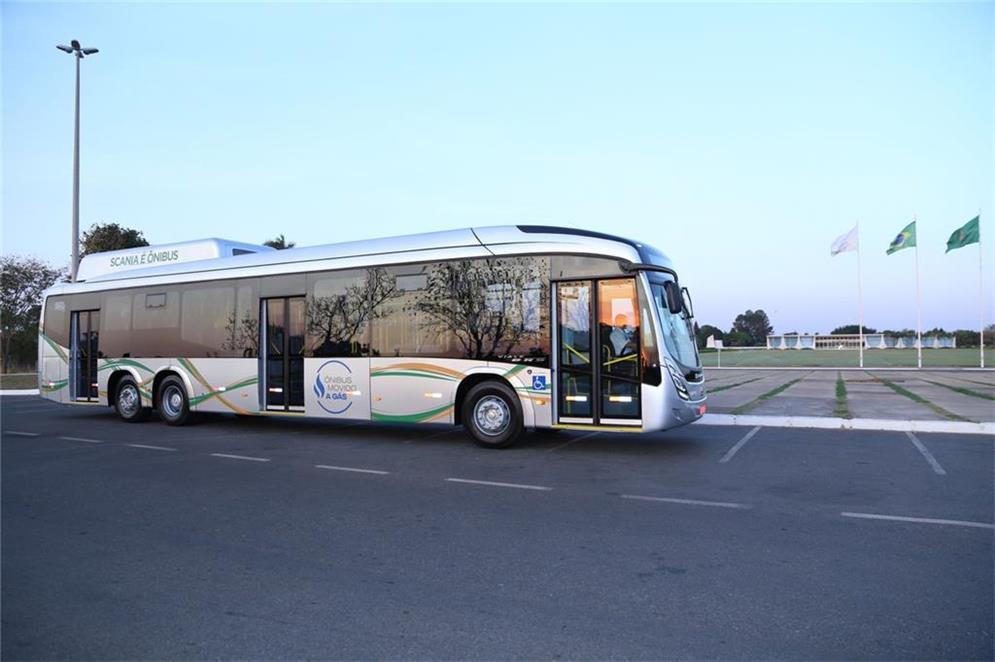 Apresentação do novo ônibus movido a Biometano/GNV