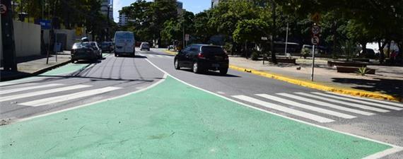 Zona 30 e ciclorrota são implantadas em mais um bairro do Recife