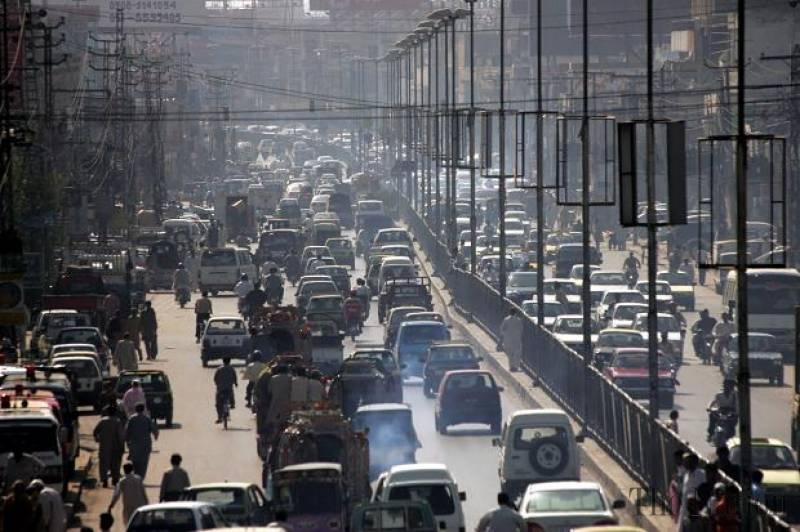 Cidades insustentáveis como esta no Paquistão: até
