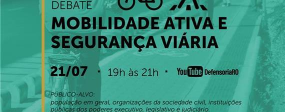 Mobilidade ativa em Rondônia é tema de debate nesta quarta (21)