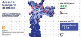 Rede Nossa São Paulo publica Mapa da Desigualdade 2020