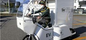 Triciclo elétrico é adotado por empresa no Japão para entregas delivery