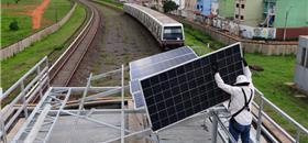 Projeto quer mais geração de energia solar no transporte sobre trilhos