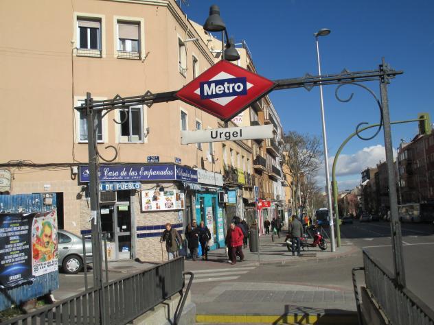 Estação Urgel do Metrô de Madri, na Espanha