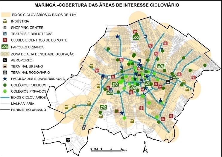 Estudo de caso: potencial cicloviário em Maringá (
