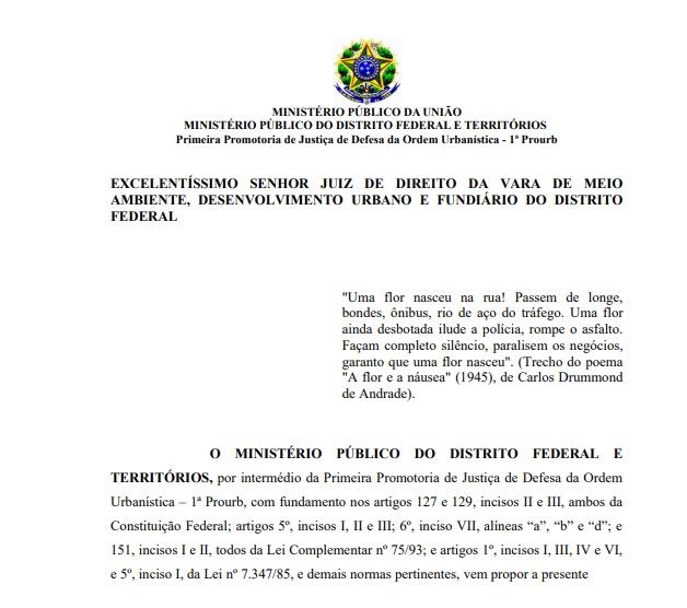 Facsímile da página inicial do documento