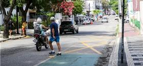 Ruas de Fortaleza ganham áreas ampliadas para pedestres