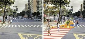 Ação urbana no Rio abre espaço da via para o pedestre