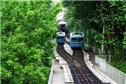 Funicular de Kiev, na Ucrânia