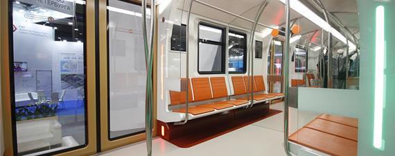 Novo trem do metrô russo terá luz que se ajusta ao horário do dia