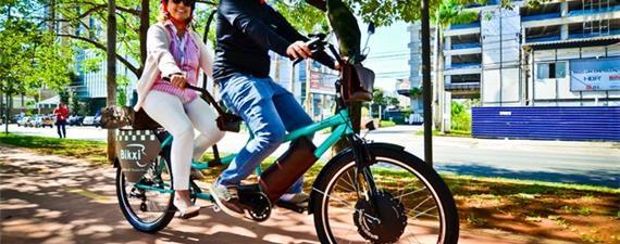 Em SP, um serviço de carona em bicicleta elétrica (isso mesmo!)