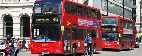 Londres terá faixas de ônibus 24h em todos os dias da semana
