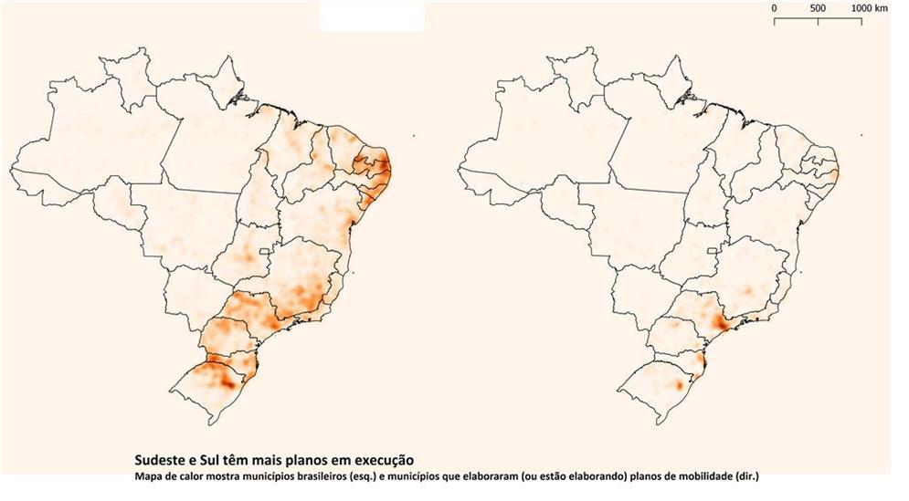 Mapa de calor: comparação entre municípios brasile