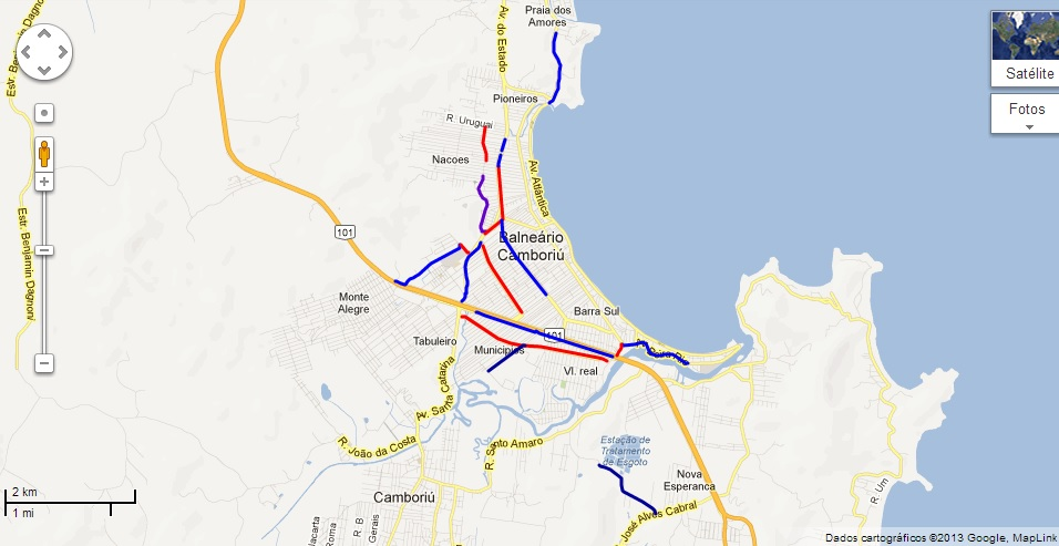 Mapa de Camboriú