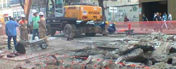 Obras do VLT no Rio são retomadas, após três meses paralisadas