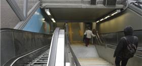 Estações de trem e do metrô com acesso limitado