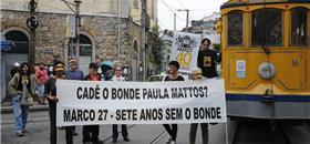 Atos pedem reativação de todo o serviço de bondes de Santa Teresa
