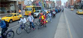 Bogotá fez ontem (7) seu primeiro 'dia sem carro' de 2019