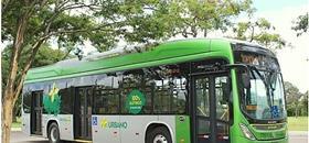 Ônibus elétrico começa a operar em Brasília. A partir de abril