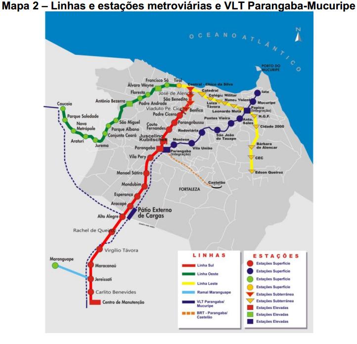 O Veículo Leve Sobre Trilhos - VLT Parangaba-Mucur