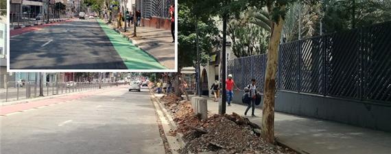 Em SP, Prefeitura troca faixa verde por calçada