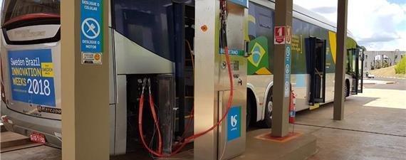 Ônibus a gás de esgotos foi testado hoje (12) em Franca (SP)
