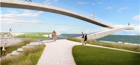 Na Holanda, uma passarela que se move conforme a maré