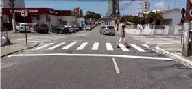 Faixas de pedestre são revitalizadas em vários bairros de João Pessoa