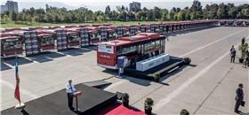 Chile recebe 100 ônibus elétricos da BYD