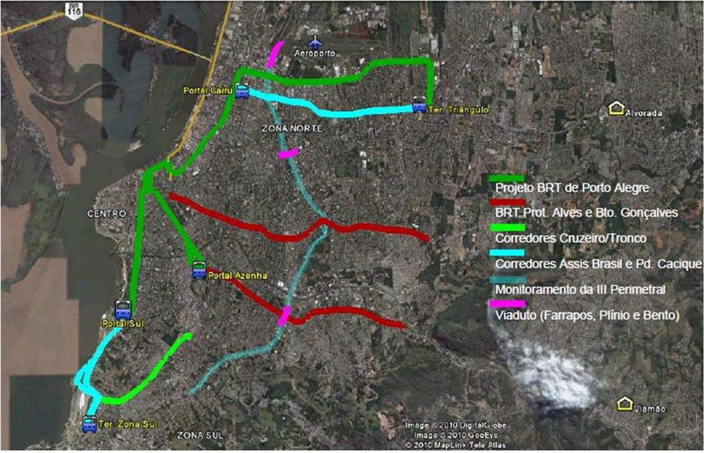 Projeto do sistema de BRT de Porto Alegre