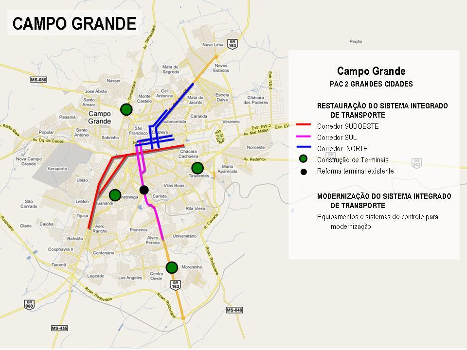 Projetos de Campo Grande selecionados no PAC 2