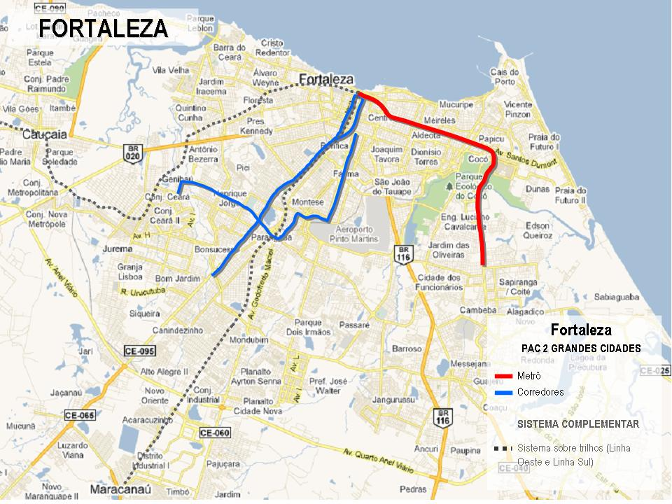 Projetos de Fortaleza selecionados no PAC 2