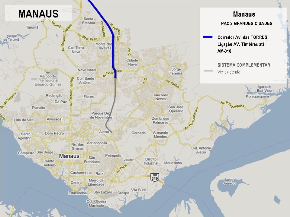 Projetos de Manaus selecionados no PAC 2