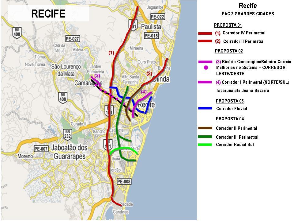 Projetos de Recife selecionados no PAC 2
