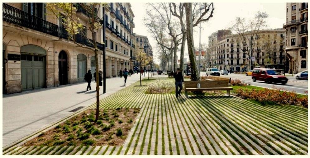 Rambla de Barcelona: exemplo de urbanização humani