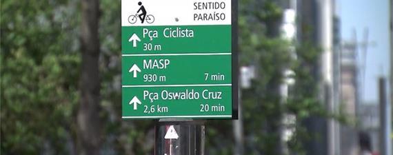 Sinalização para ciclistas chega ao Centro de São Paulo