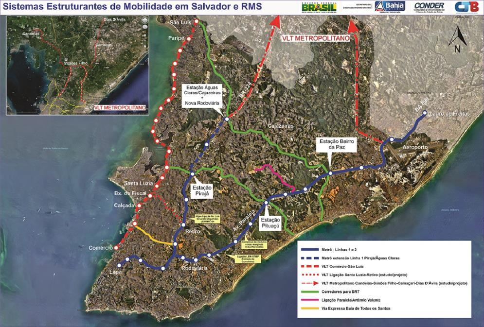 Sistemas de mobilidade urbana de Salvador (2018)