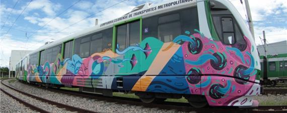 VLT de Fortaleza é grafitado pela dupla de artistas OsGemeos