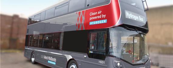 Na Inglaterra, os primeiros ônibus de dois andares a hidrogênio