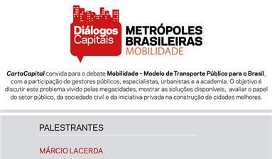 Seminário Diálogos Capitais Metrópoles Brasileiras - Mobilidade